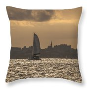 Charleston Sailing Throw Pillow