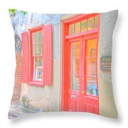 Charleston Sc Catfish Row Throw Pillow