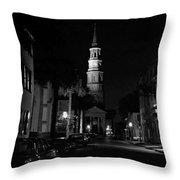 Charleston South Carolina 1980's Throw Pillow