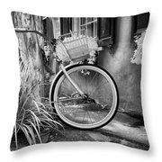 Charleston Street Bike Throw Pillow