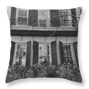 Charleston Style Home Black And White Throw Pillow