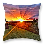 Charleston Sunset Throw Pillow