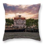 Charleston Wharf Throw Pillow