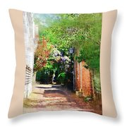 Charlestons Alley Throw Pillow