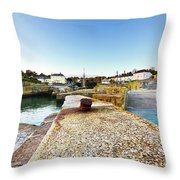 Charlestown From The Sea Wall Throw Pillow