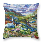 Charlevoix Inspiration Throw Pillow