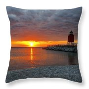 Charlevoix Sunset Throw Pillow