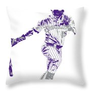 Charlie Blackmon Colorado Rockies Pixel Art 10 Throw Pillow