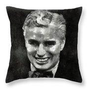 Charlie Chaplin Hollywood Legend Throw Pillow
