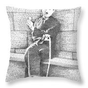 Charlie Chaplin In His Own Words Throw Pillow