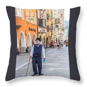 Charlie Chaplin In Innsbruck Throw Pillow