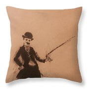 Charlie Chaplin Throw Pillow