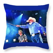 Charlie Daniels On Stage Throw Pillow