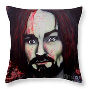 Charlie Manson Throw Pillow