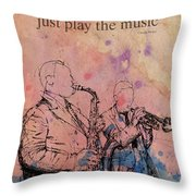 Charlie Parker Quote. Dont Be Afraid, Just Play The Music. Throw Pillow