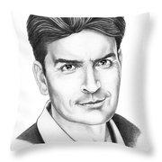 Charlie Sheen Throw Pillow