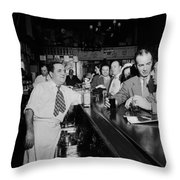Charlie's Tavern N Y C 1947 Throw Pillow