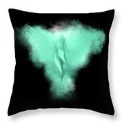 Charlize Cyan Throw Pillow