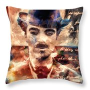 Charlot Colors And Poems  Throw Pillow