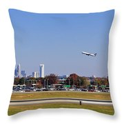 Charlotte Airport Throw Pillow