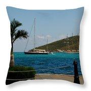 Charlotte Amalie Harbor Throw Pillow