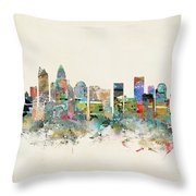 Charlotte City Throw Pillow