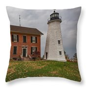 Charlotte-genesee Lighthouse Throw Pillow