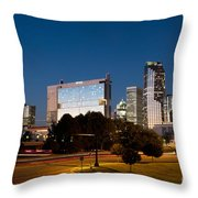 Charlotte North Carolina Skyline At Dusk Throw Pillow