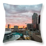 Charlotte Sunset Throw Pillow