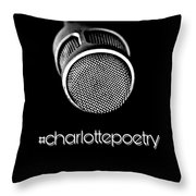 #charlottepoetry Photo Poster Art Throw Pillow