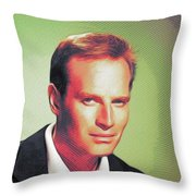 Charlton Heston, Hollywood Legends Throw Pillow