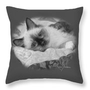 Charming - Black And White Throw Pillow