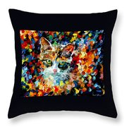 Charming Cat Throw Pillow