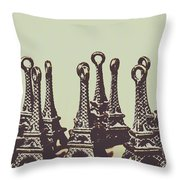 Charming Europe Landmarks Throw Pillow