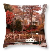 Charming Lady At Rockport Throw Pillow