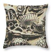Charming Seashore Symbols Throw Pillow