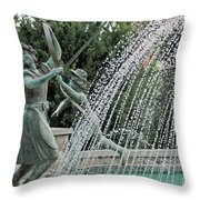 Chase Around The May Pole Throw Pillow