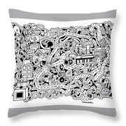 Chasen' Jason Throw Pillow by Chelsea Geldean