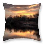 Chasewater Sunrise Throw Pillow
