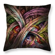 Chasing Colors - Fractal Art Throw Pillow