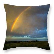 Chasing Nebraska Lightning 009 Throw Pillow