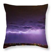 Chasing Nebraska Lightning 035 Throw Pillow