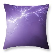Chasing Nebraska Lightning 043 Throw Pillow