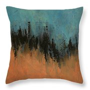 Chasing Stories Abstract Painting Throw Pillow
