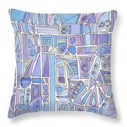 Chasing The Blues Throw Pillow