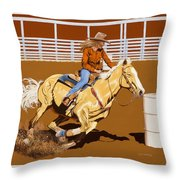 Chasing The Cans Throw Pillow