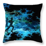 Chasing The Joneses Throw Pillow