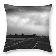 Chasing The Storm - County Rd 95 And Highway 52 - Colorado Throw Pillow