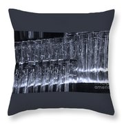 Chasing Waterfalls - Blue Throw Pillow
