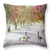 Chat In The Park Throw Pillow